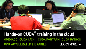 CUDA Training in the Cloud