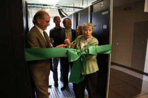 Laconia supercomputer ribbon cutting.