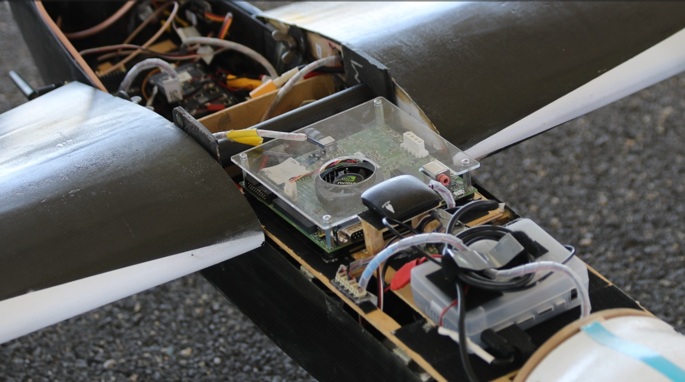 "Figure 8: The Jetson TK1 on-board the ""ATHENA"" drone."