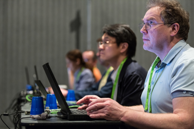 GTC attendees learn from the brightest minds in accelerated computing with hundreds of talks and hands-on tutorials.