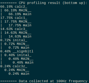 Figure 1: The new version of the `nvprof` profiler included with the NVIDIA OpenACC Toolkit can profile your CPU code to find the hot spots, so you can focus OpenACC efforts on the most valuable parts of your code.