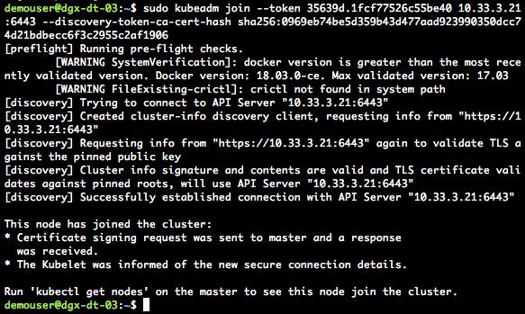 NVIDIA DGX Kubernetes Docker Container
