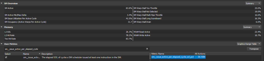 Range Profilere User Metrics image