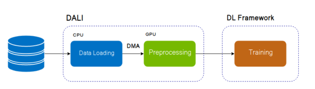 Dali in the DL training pipeline diagram