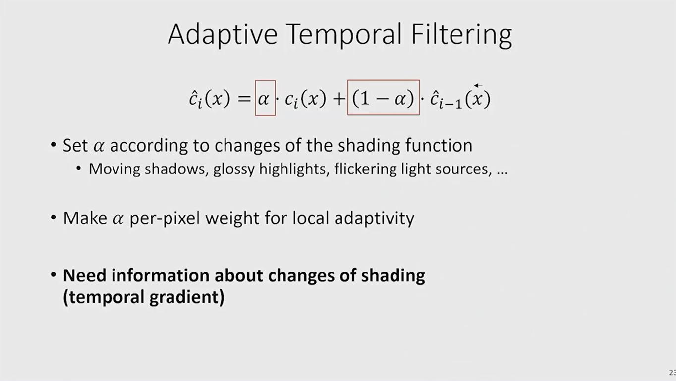 adaptive temporal filtering